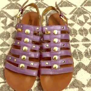 Michael Kors purple sandals